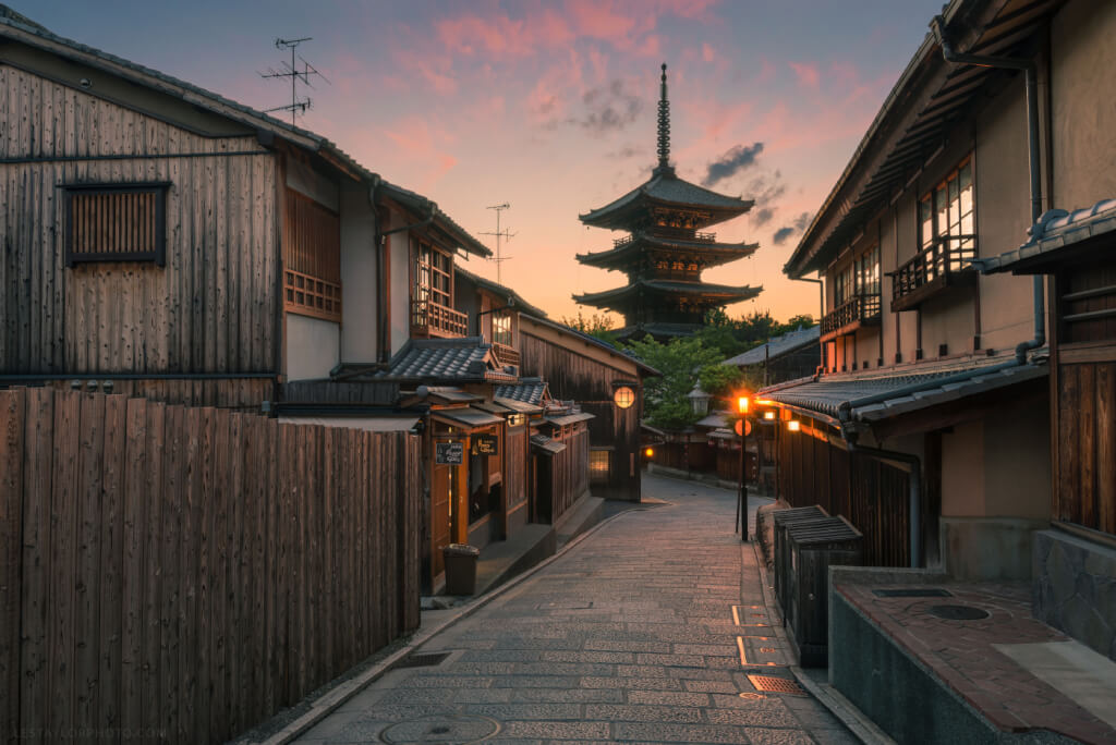 Yasaka Pagoda Sunset